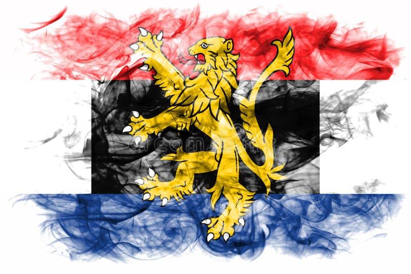 Bandera del humo de Benelux, unión politico-económica de Bélgica, inferior ilustración del vector