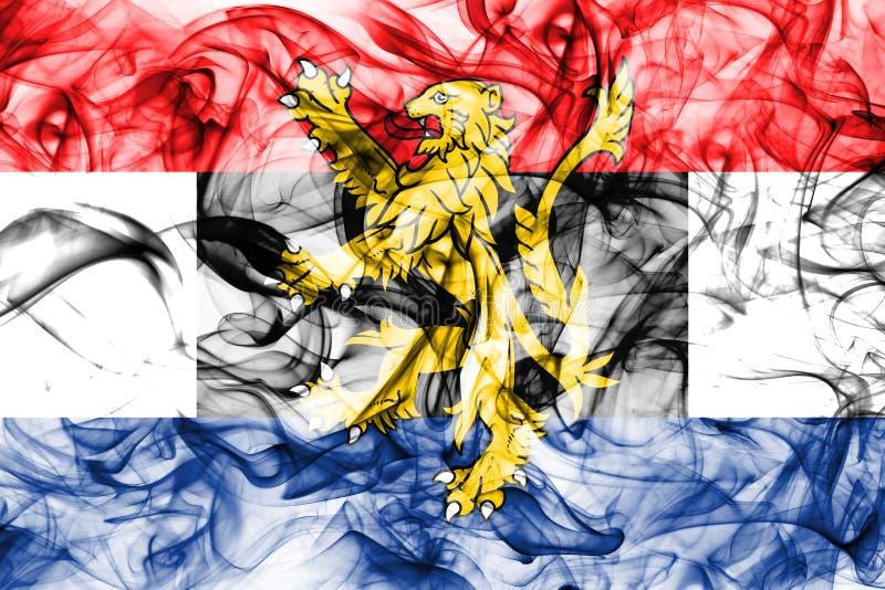 Bandera del humo de Benelux, unión politico-económica de Bélgica, Países Bajos, Luxemburgo fotografía de archivo