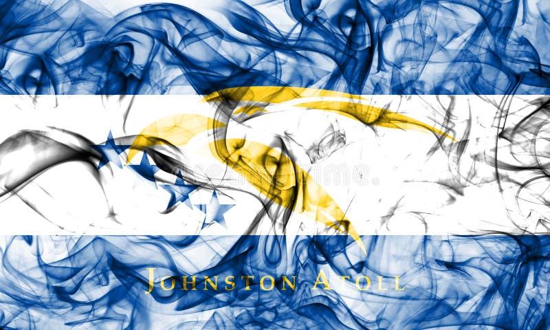 Bandera del humo de Johnston Atoll, bandera dependiente del territorio de Estados Unidos fotografía de archivo libre de regalías