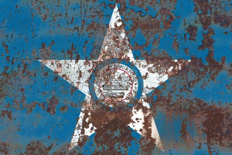 Bandera del humo de la ciudad de Houston, Texas State, los Estados Unidos de América imagenes de archivo