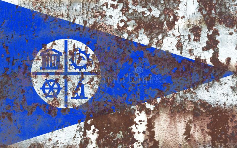 Bandera del humo de la ciudad de Minneapolis, estado de Minnesota, Estados Unidos de A fotografía de archivo