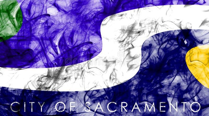 Bandera del humo de la ciudad de Sacramento, estado de California, Estados Unidos de A ilustración del vector