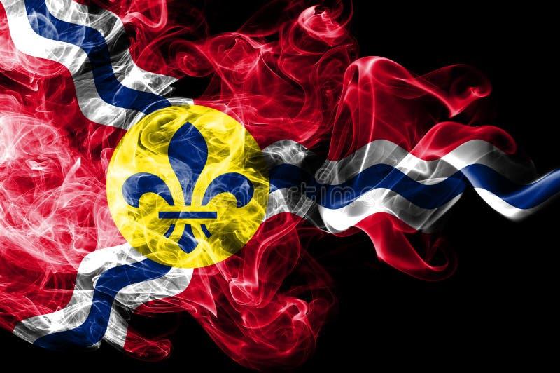 Bandera del humo de la ciudad del Saint Louis, estado de Missouri, los Estados Unidos de América ilustración del vector