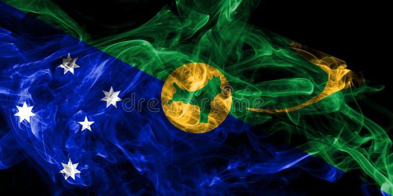 Bandera del humo de la Isla de Navidad, bandera dependiente del territorio de Australia stock de ilustración
