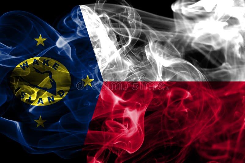 Bandera del humo de la isla Wake, bandera dependiente del territorio de Estados Unidos imágenes de archivo libres de regalías