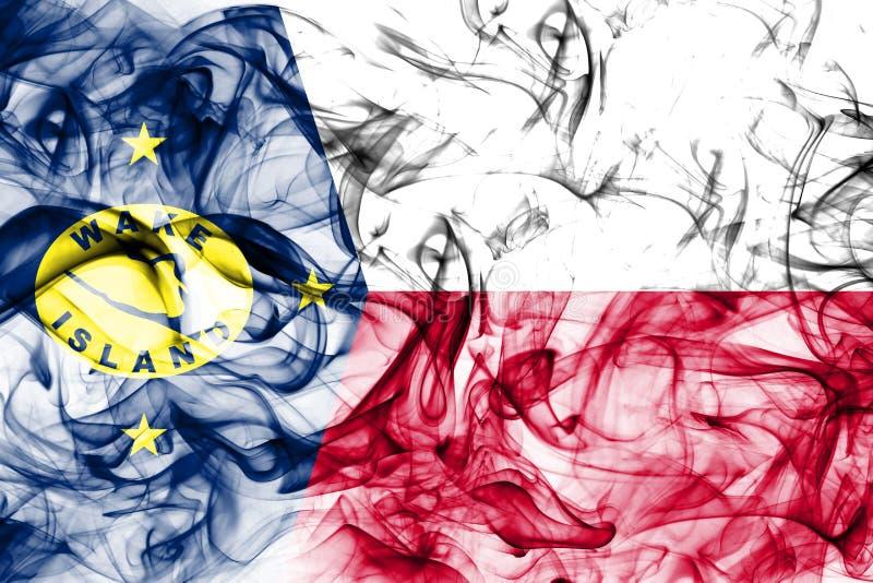 Bandera del humo de la isla Wake, bandera dependiente del territorio de Estados Unidos fotos de archivo libres de regalías