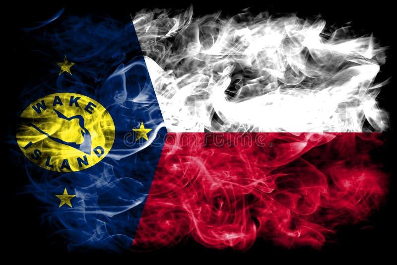 Bandera del humo de la isla Wake, bandera dependiente del territorio de Estados Unidos ilustración del vector