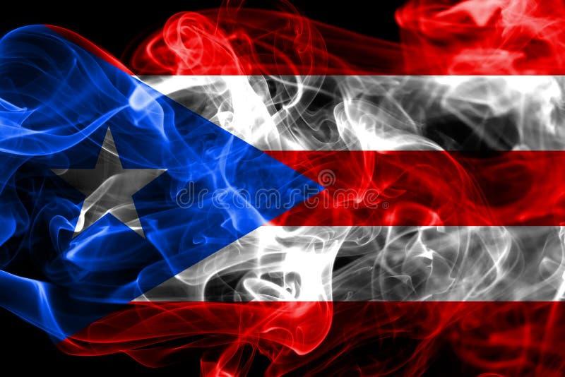 Bandera del humo de Puerto Rico, bandera dependiente del territorio de Estados Unidos foto de archivo