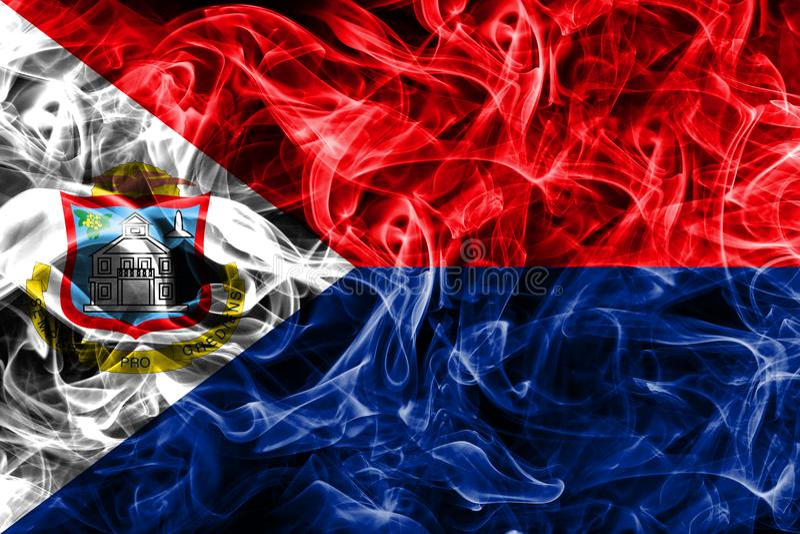 Bandera del humo de Sint Maarten, bandera dependiente holandesa del territorio fotografía de archivo libre de regalías