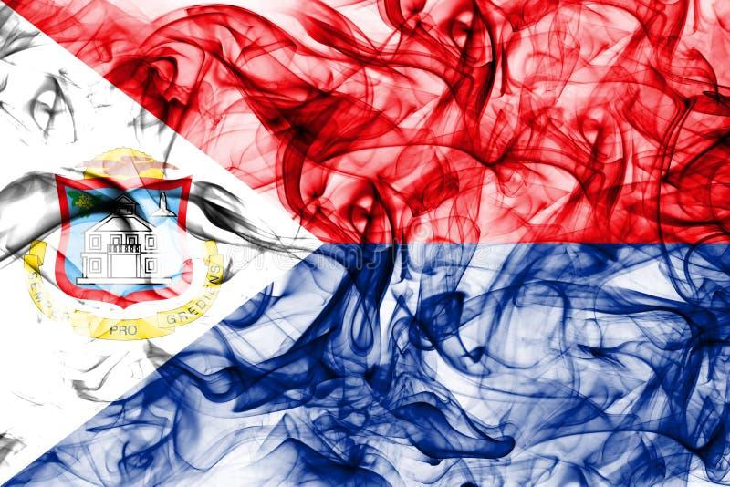 Bandera del humo de Sint Maarten, bandera dependiente holandesa del territorio libre illustration