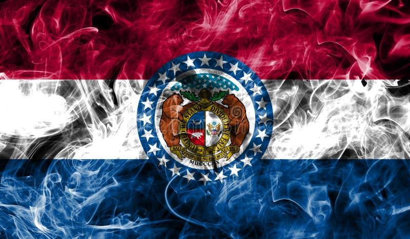 Bandera del humo del estado de Missouri, los Estados Unidos de América fotos de archivo libres de regalías