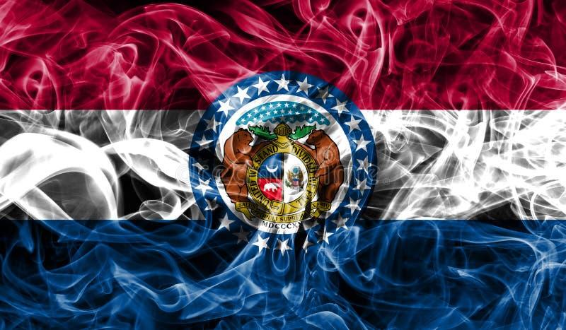 Bandera del humo del estado de Missouri, los Estados Unidos de América foto de archivo