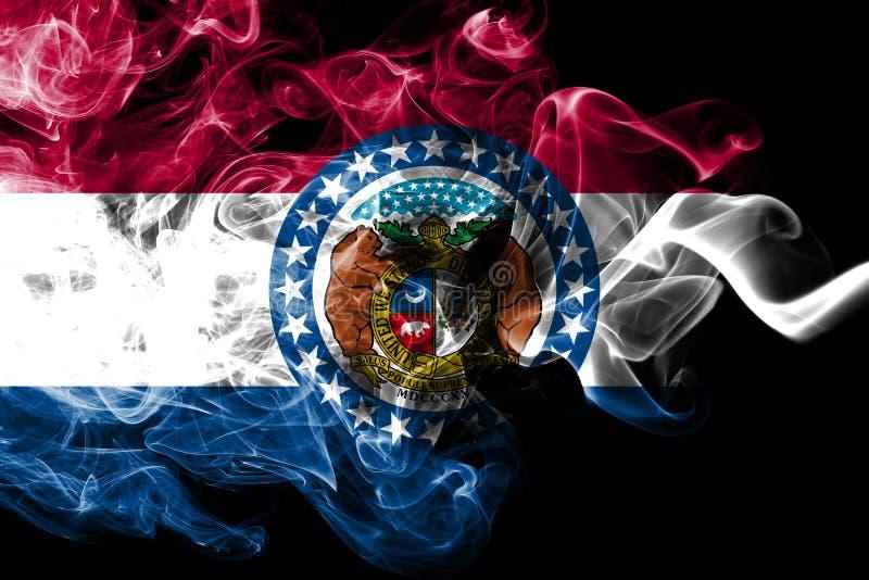 Bandera del humo del estado de Missouri, los Estados Unidos de América libre illustration