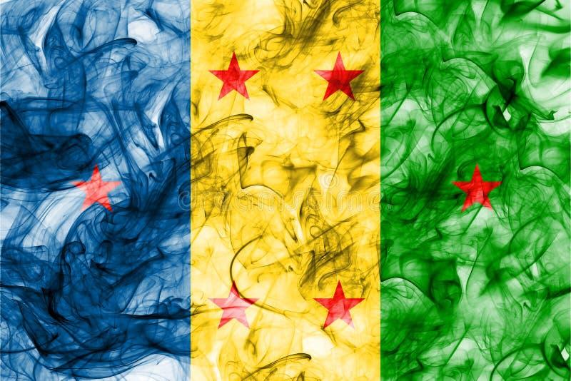 Bandera del humo del reino de Ogoni, bandera dependiente del territorio ilustración del vector