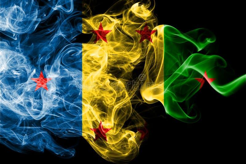 Bandera del humo del reino de Ogoni, bandera dependiente del territorio libre illustration