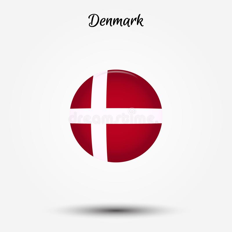 Bandera del icono de Dinamarca libre illustration