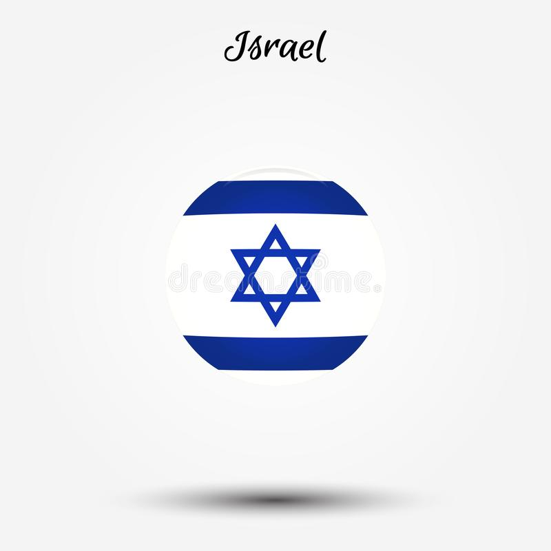 Bandera del icono de Israel libre illustration
