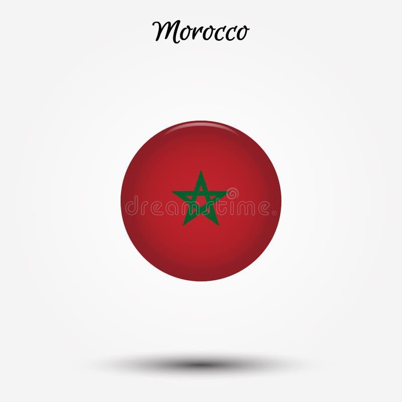 Bandera del icono de Marruecos libre illustration