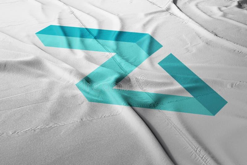 Bandera del icono del logotipo de Zilliqa ZIL crypto imagenes de archivo