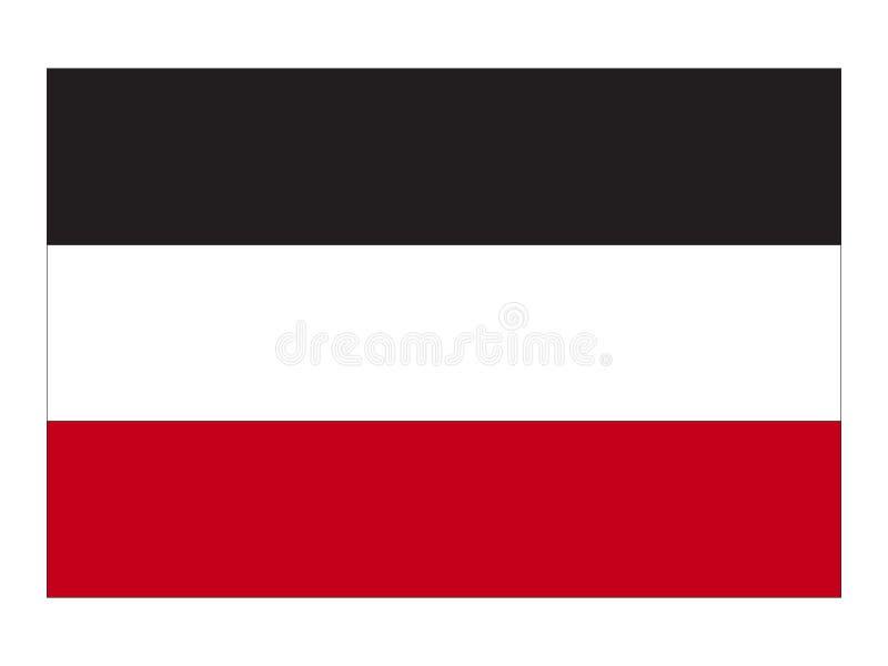 Bandera del imperio alemán stock de ilustración