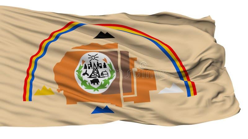 Bandera del indio de Navajo, aislada en blanco ilustración del vector