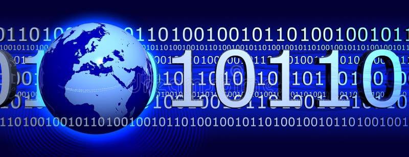 Bandera del Internet stock de ilustración