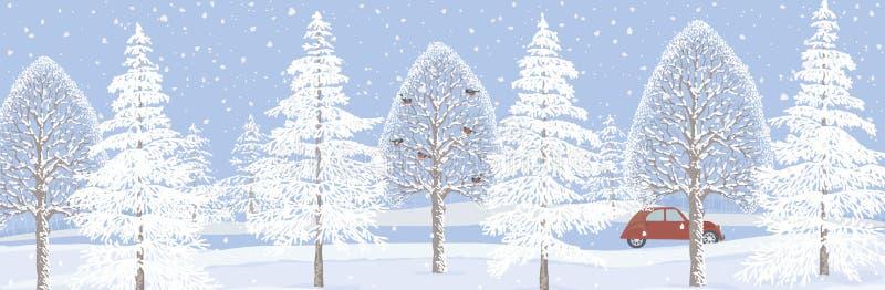 Bandera del invierno libre illustration