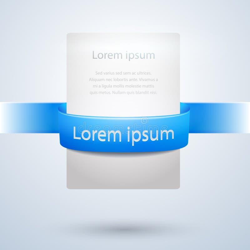 Bandera del Libro Blanco con el diseño de Blue Ribbon stock de ilustración