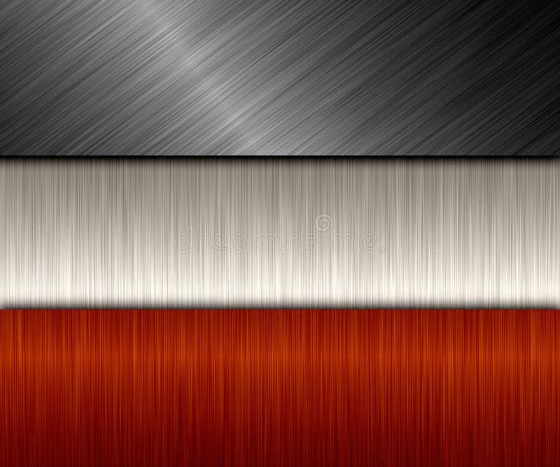 Bandera del metal ilustración del vector