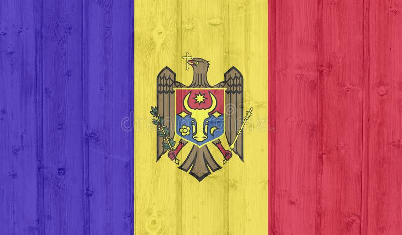 Bandera del Moldavia del Grunge imagen de archivo