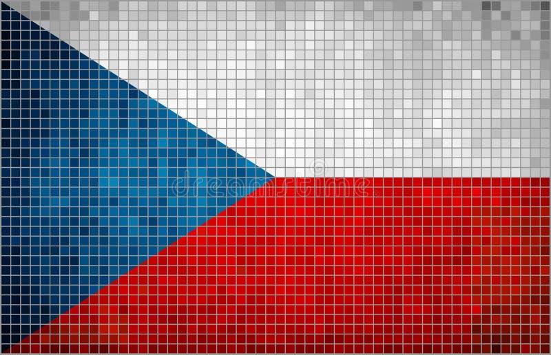 Bandera del mosaico de Checo libre illustration