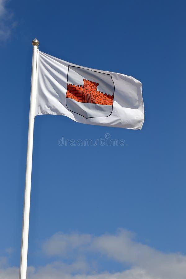Bandera del municipio de Boden fotos de archivo libres de regalías