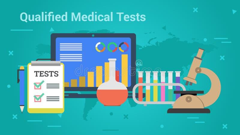 Bandera del negocio - exámenes médicos calificados stock de ilustración