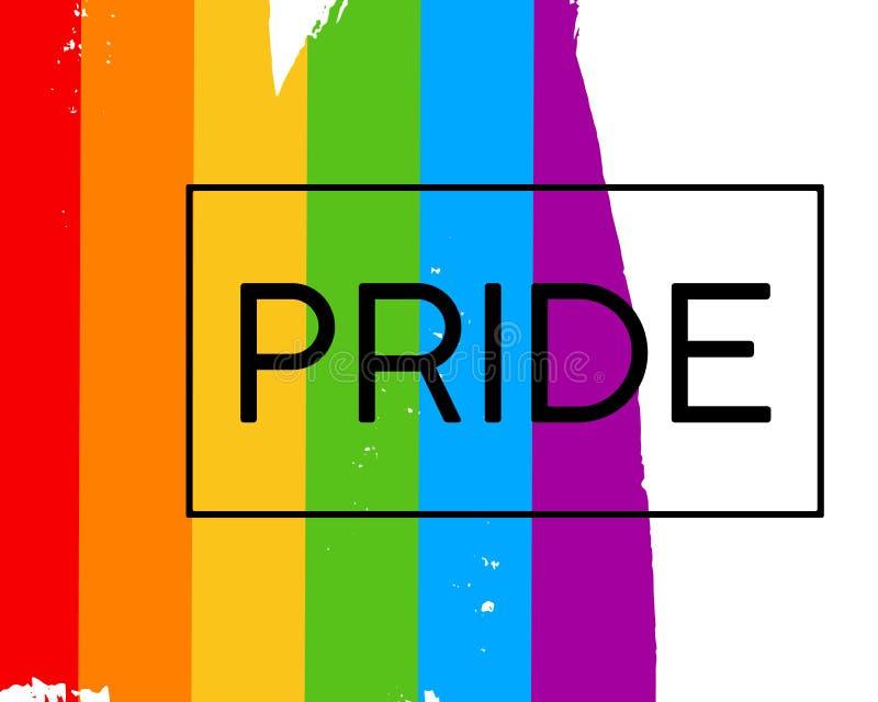 Bandera del orgullo del lgbt del drenaje de la mano libre illustration
