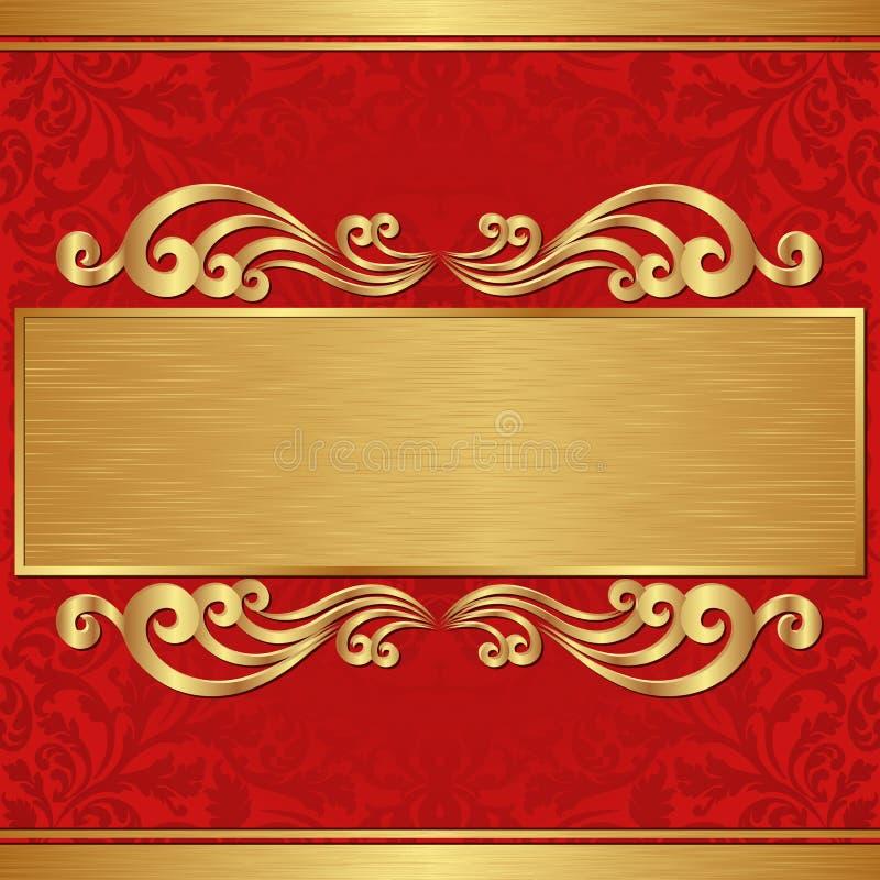 Bandera del oro stock de ilustración