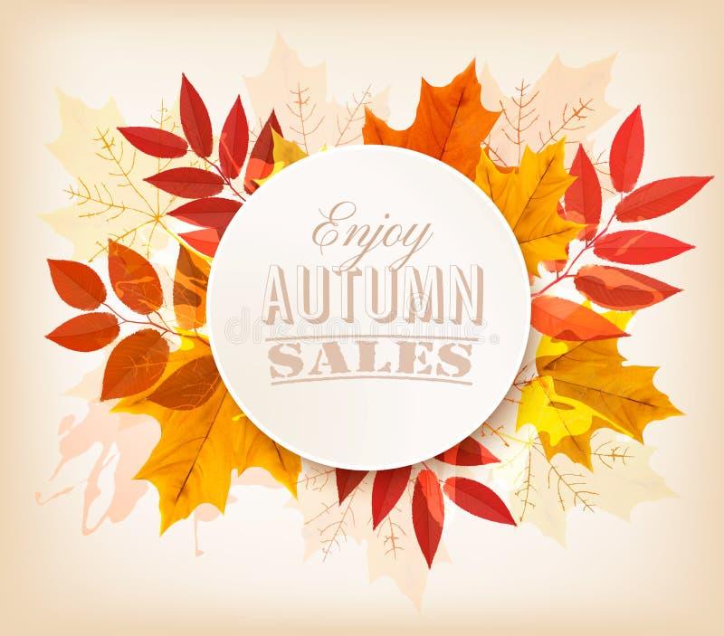 Bandera del otoño Disfrute de las ventas libre illustration