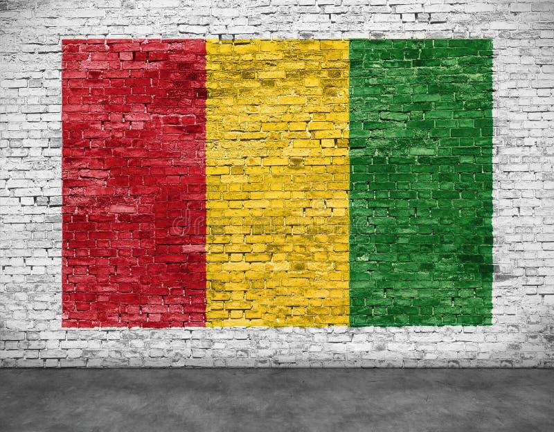Bandera del reggae pintada en la pared de ladrillo libre illustration