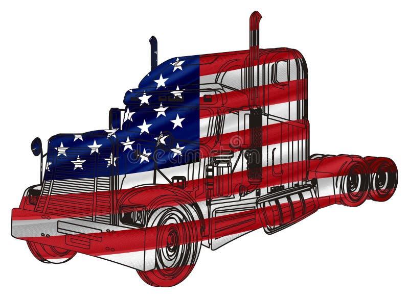 Bandera del remolque libre illustration