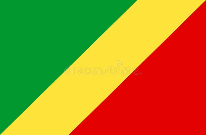 Bandera del República del Congo imagen de archivo libre de regalías