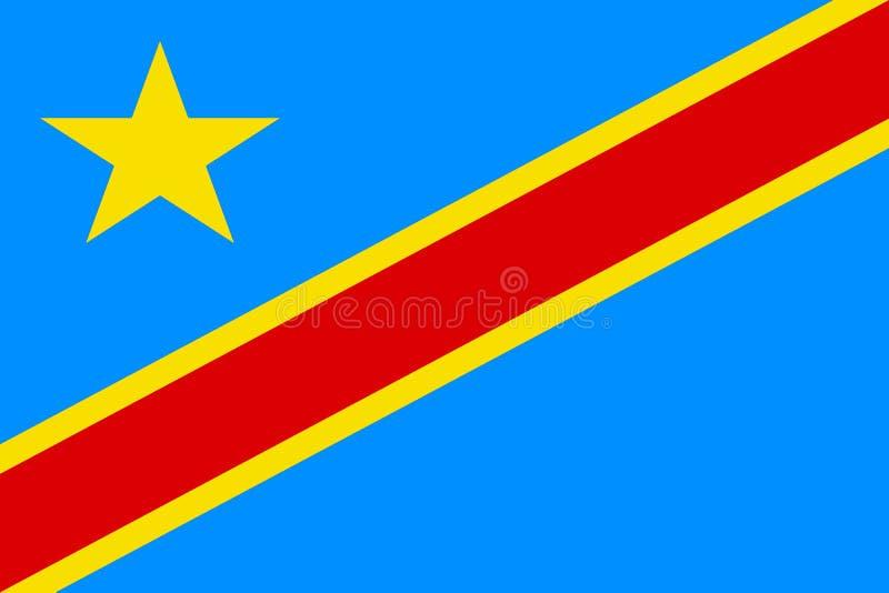 Bandera del República del Congo Democratic fotografía de archivo