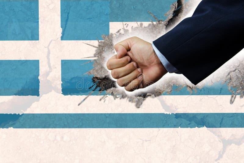 Bandera del sacador y de Grecia ilustración del vector