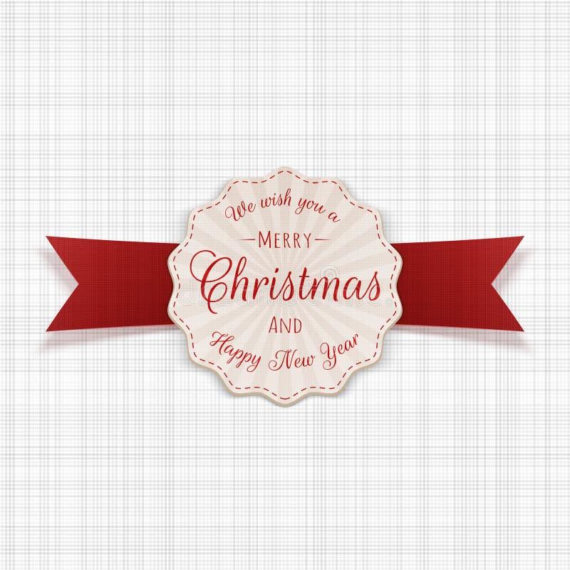 Bandera del saludo de la Feliz Navidad del círculo con el texto ilustración del vector