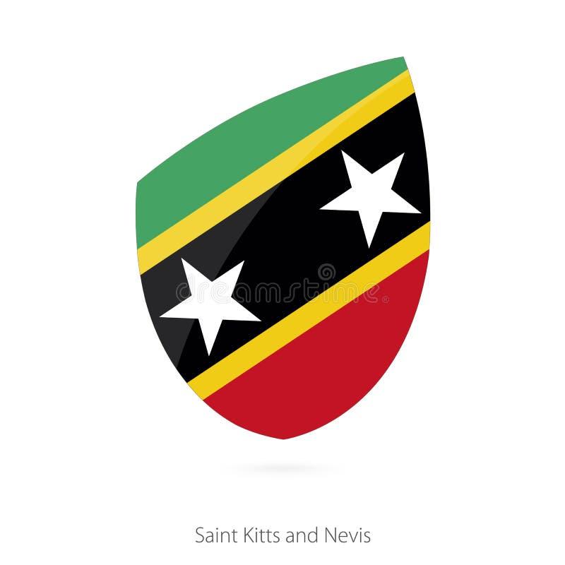 Bandera del santo San Cristobal y Nevis stock de ilustración