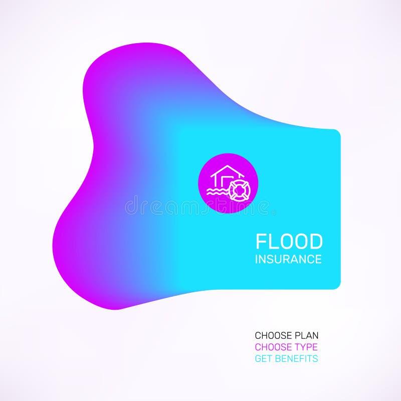Bandera del seguro de inundación libre illustration