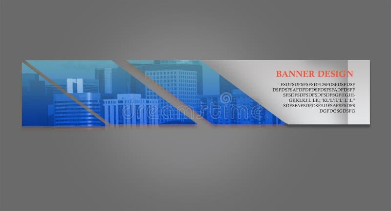 Bandera del sitio web stock de ilustración