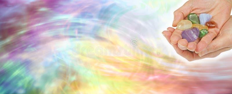Bandera del sitio web de la cura cristalina fotos de archivo
