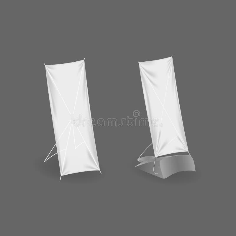 Bandera del soporte de la publicidad al aire libre Carteleras realistas, cartel en blanco, muestras al por menor libre illustration