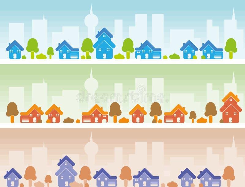 Bandera del suburbio stock de ilustración