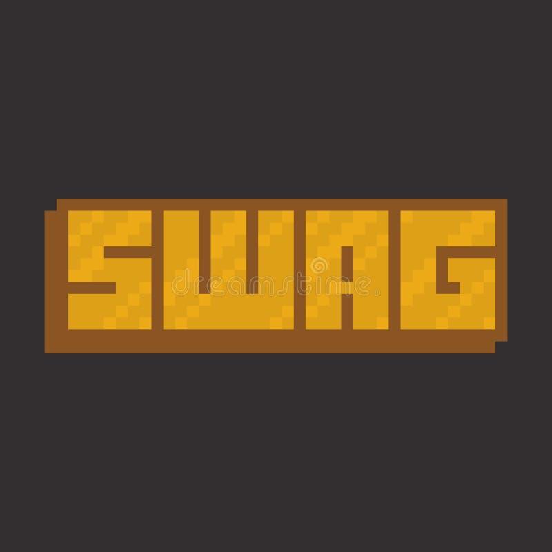 Bandera del Swag Ejemplo del vector del estilo del arte del pixel libre illustration
