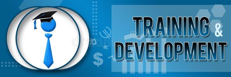 Bandera del tema del negocio del entrenamiento y del desarrollo stock de ilustración